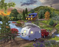 Campers Coming Home Fine Art Print