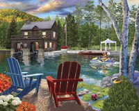 Summer at the Boathouse Fine Art Print