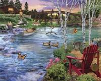 Bridge Fishing Fine Art Print
