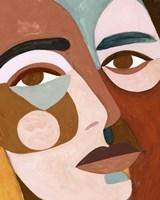 Geo Face III Framed Print