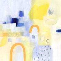 Butterscotch and Blue I Framed Print