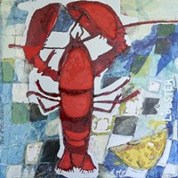 Brilliant Maine Lobster IV Fine Art Print