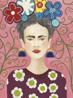 Frida Floral I Fine Art Print