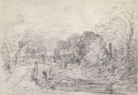 A Bridge Near Salisbury Court Fine Art Print