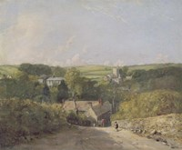 A View of Osmington Village with the Church and Vicarage Fine Art Print