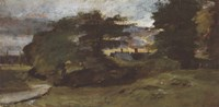 Landscape with Cottages Fine Art Print