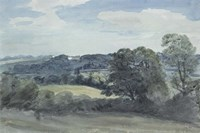 Landscape with Buildings in the Distance Fine Art Print