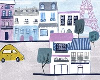 Bonjour Paris III Framed Print
