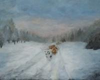 Journey Through the Snow IV Fine Art Print