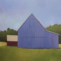 Primary Barns I Fine Art Print