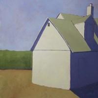 Primary Barns III Fine Art Print