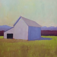 Primary Barns IV Fine Art Print
