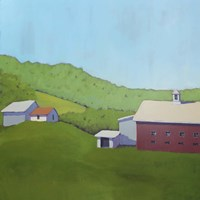 Primary Barns VI Fine Art Print