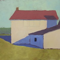 Primary Barns VII Fine Art Print
