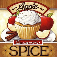 Cupcake Apple Cinnamon  Spice Fine Art Print
