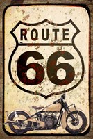 Route 66 Sign With Indian Scout Fine Art Print