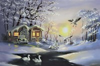 Snow Geese, Cabin Fine Art Print