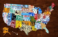 United States of America License Plate Map 2018 Fine Art Print