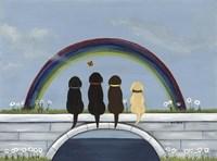 Rainbow Bridge Dogs Fine Art Print
