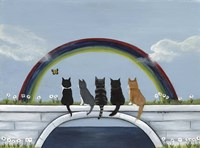 Rainbow Bridge Kitties Fine Art Print