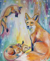 Psychedelic Foxes Fine Art Print