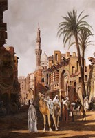 Cammelli a il Cairo Fine Art Print