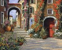 Un'altra Porta Rossa Sulla Salita Fine Art Print
