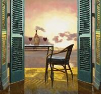 Vino Al Tramonto Fine Art Print