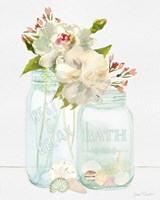 Bath Time Mason Jars Fine Art Print
