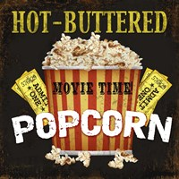 Hot Buttered Popcorn Theater Art Fine Art Print