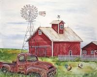 Rural Red Barn A Fine Art Print