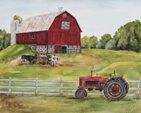 Rural Red Barn B Framed Print