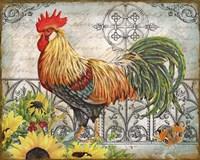 Ironwork Rooster A Framed Print