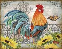 Ironwork Rooster B Fine Art Print