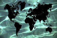 Pure Ocean World Map 1 Fine Art Print