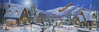 Christmas Town Panorama Fine Art Print