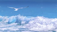 Gull In The Waves Fine Art Print
