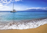 Sailing Near Maui Fine Art Print