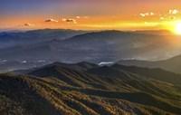 Smoky Mountains Sunset Fine Art Print