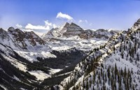 Snow Covered Maroon Bells Fine Art Print