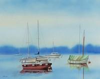 Misty Moorings Fine Art Print