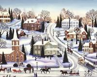 Winter In Galena Fine Art Print