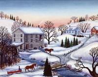 Winter Mill Fine Art Print