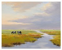 Grazing Cattle Fine Art Print
