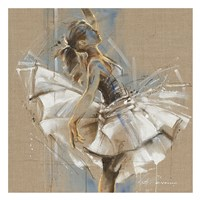 White Dress III Framed Print