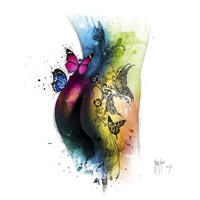 Butterfly Tattoo Fine Art Print