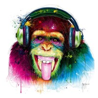 DJ Monkey Fine Art Print
