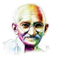 Gandhi - I Am Love Fine Art Print