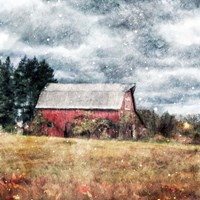First Snow on the Farm Fine Art Print