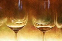 Amber Wine Glasses Fine Art Print